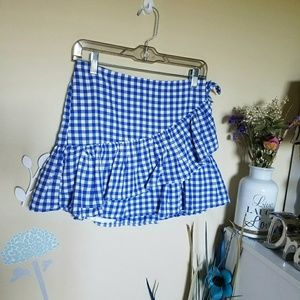 Other - 🆕👗Blue and White Plaid Skirt👗🎉